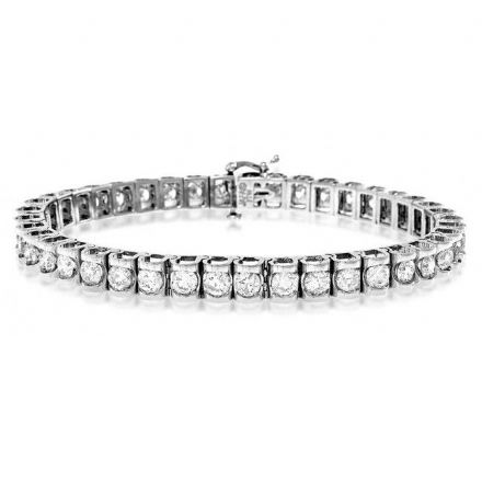 18K White Gold 7.78ct Diamond Bracelet, H1113